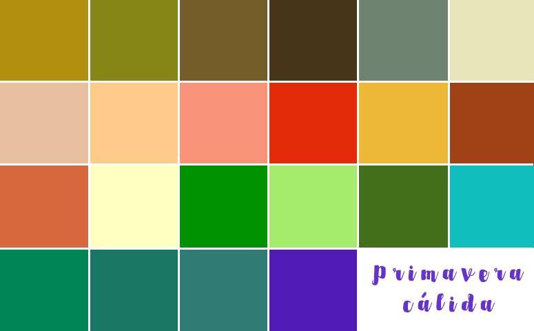 paleta colores primavera
