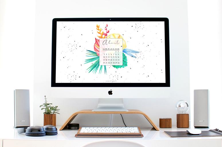 Calendario de abril 2017 desktop calendar april tropical