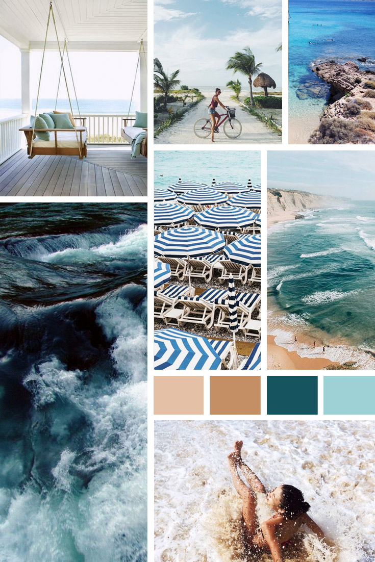 beach vibes color inspiration sea beach