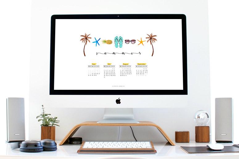 Calendario meses de verano summer months calendar desktop download