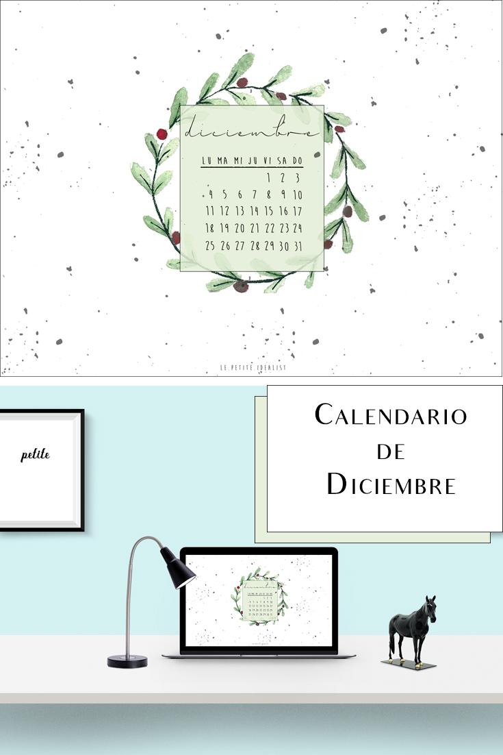 Calendario de Diciembre 2017 fondo de pantalla
