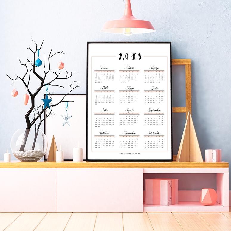 calendario completo de 2018 poster