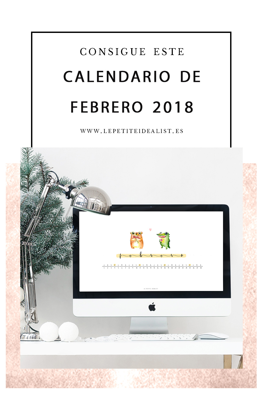 Calendario de Febrero 2018