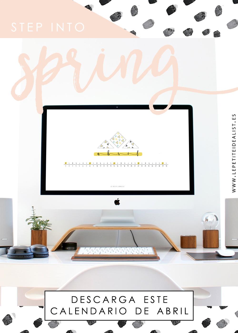 calendario de abril 2018