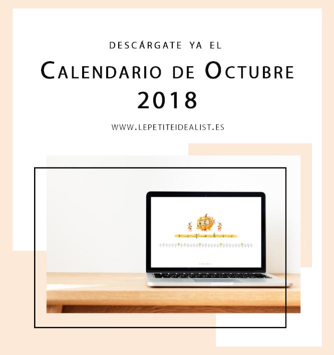 calendario de octubre 2018