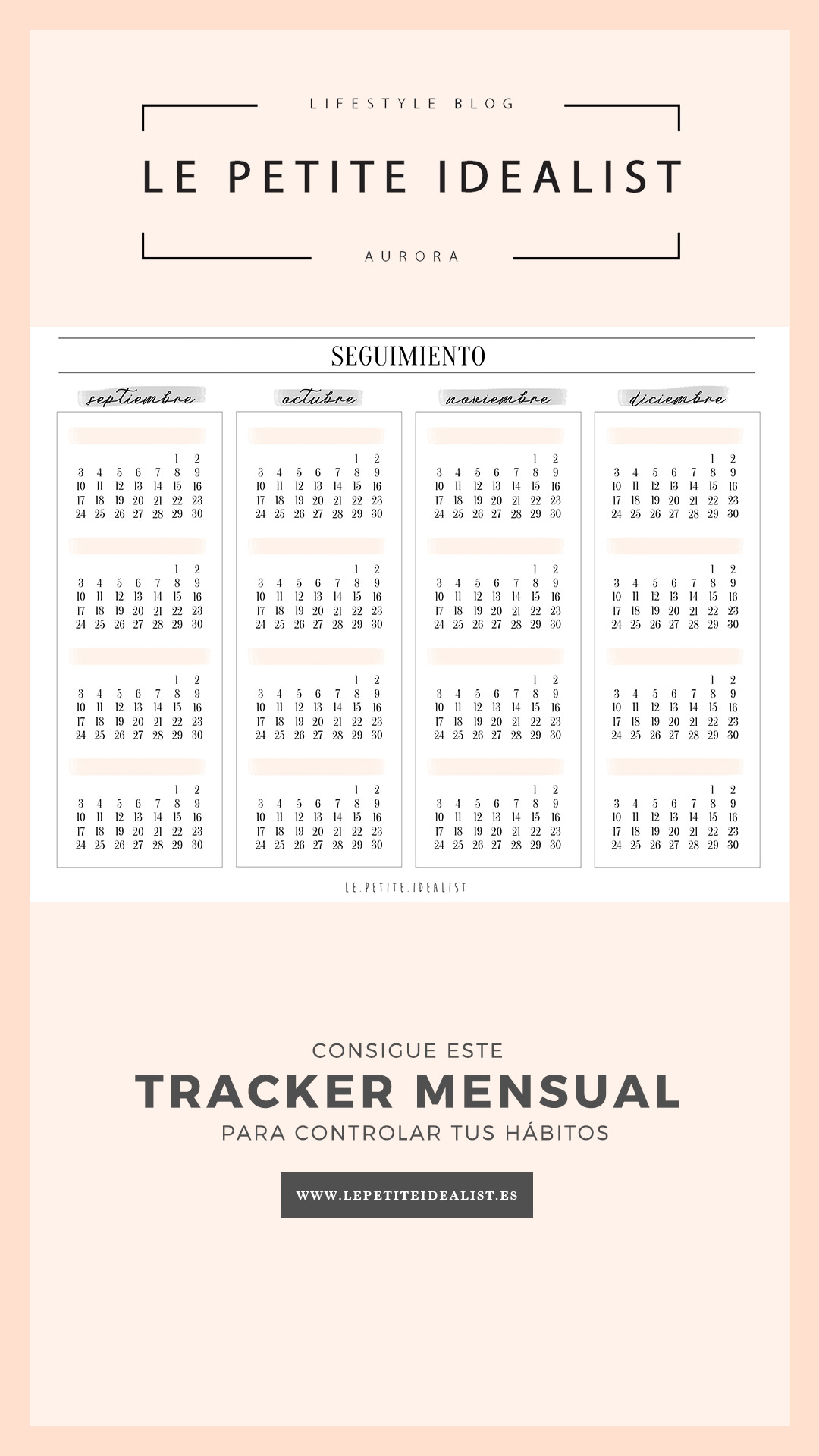 trackers mensuales