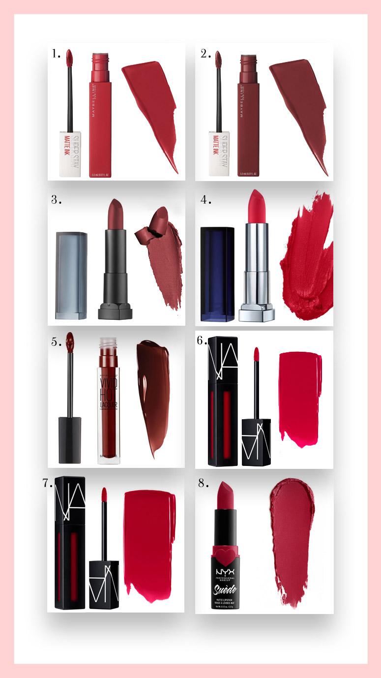 pintalabios labiales rojos red lips