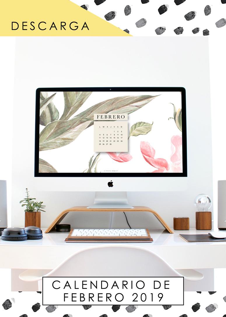calendario de febrero 2019 desktop february