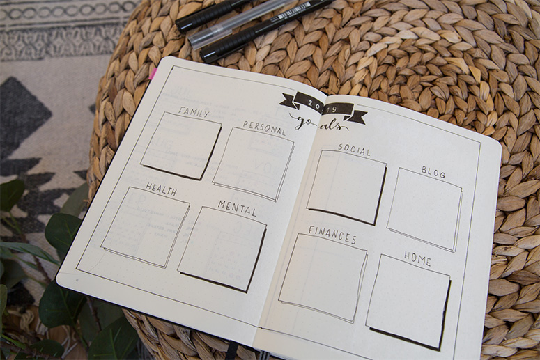 bullet journal bujo goals