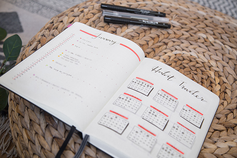 bullet journal bujo monthly habit tracker