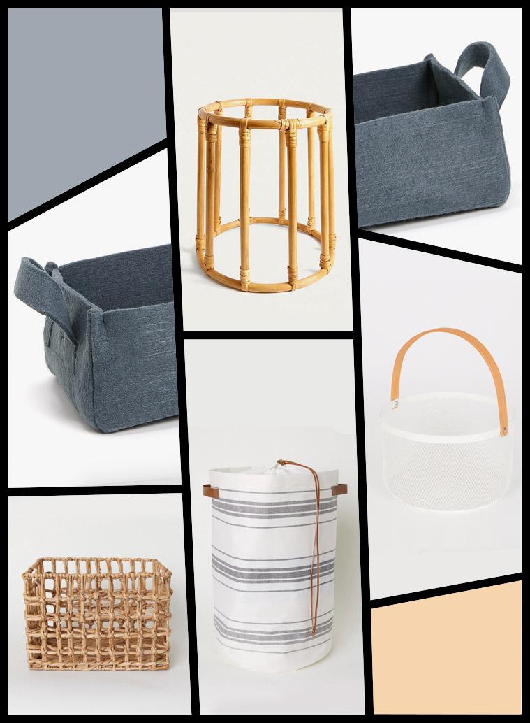 decoración del hogar rebajas cestos