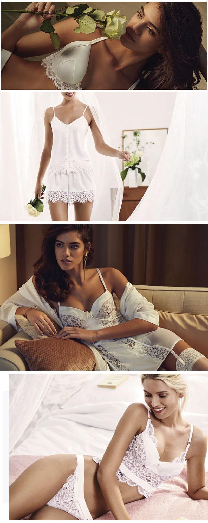 bikinis, lenceria de novia, sujetadores, hunkermoller